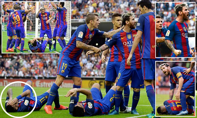 Valencia 2-3 Barcelona: Lionel Messi confronts the home crowd after Neymar and Luis Suarez