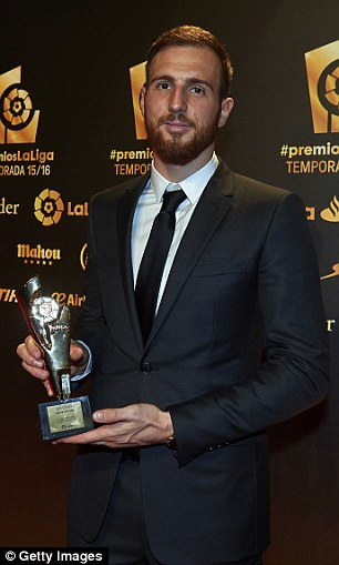 It was a night to remember for Atletico as Jan Oblak also claimed a gong