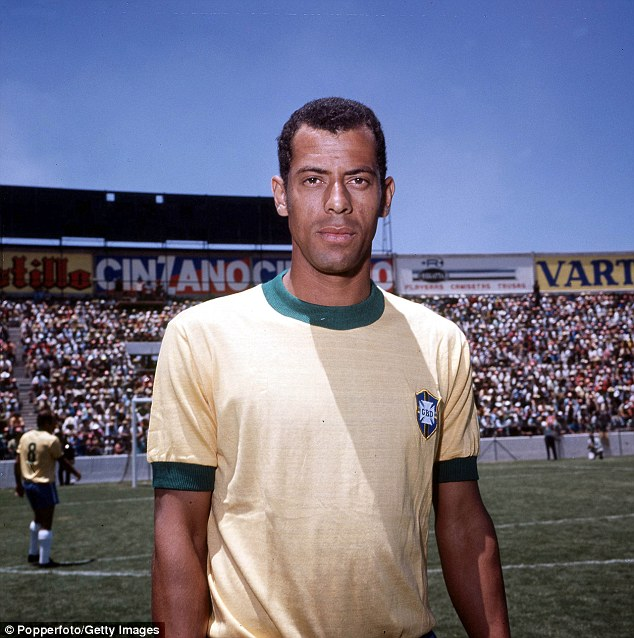 Alberto stands for a picture in his Brazil kit during his time as captain in the 1970s