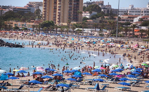 Alam had been living in the British tourist hotspot of Tenerife for months, dodging police with an elaborate plot of different addresses and jobs (file photo)