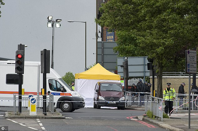 Lee Rigby was murdered by the British Muslim converts near the Royal Artillery Barracks in Woolwich, southeast London (crime scene, pictured) - the same street that Mr Cornelius lived