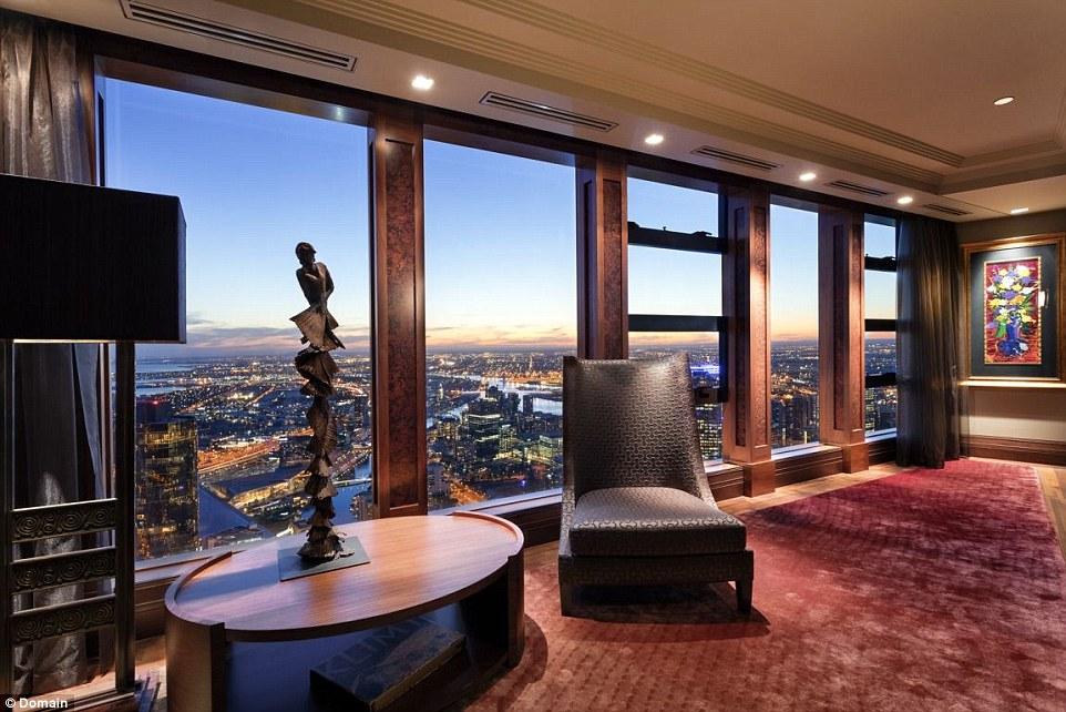 Luxury penthouse on Melbournes Eureka Tower on the market