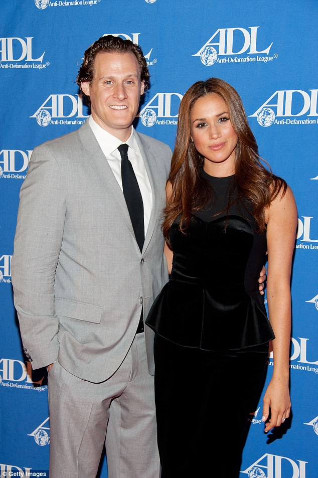Image result for L-R: Ex-husband, Trevor Engelson; Meghan Markle and fiancé, Prince Harry. Daily Star photo