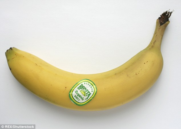 If a banana has a five-number code beginning with '9', it's been grown organically (as pictured) but if it just has the code '4011' then it has been grown using conventional methods