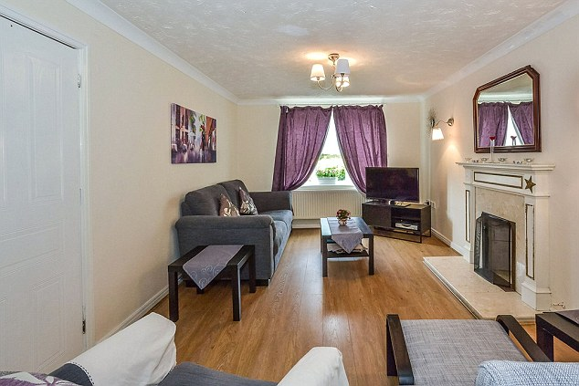It has spacious rooms, pictured, as well as a utility room and garage and would usually cost a rent of £1,200-per-month