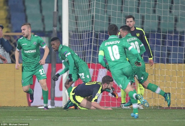Arsenal were shocked early on as Jonathan Cafu of Ludogorets opened the scoring for the home side in the 12th minute