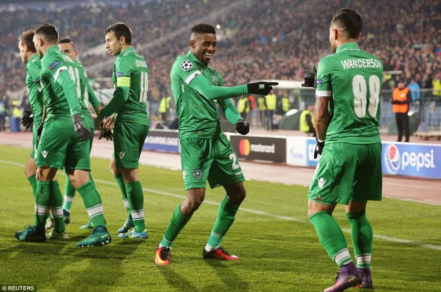 Cafu celebrated wildly following his goal as Arsenal suffered the worst possible start at the Vasil Levski National Stadium