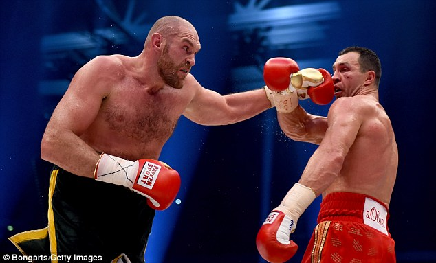 Klitschko had been waiting for a rematch with former world champion Tyson Fury (left)