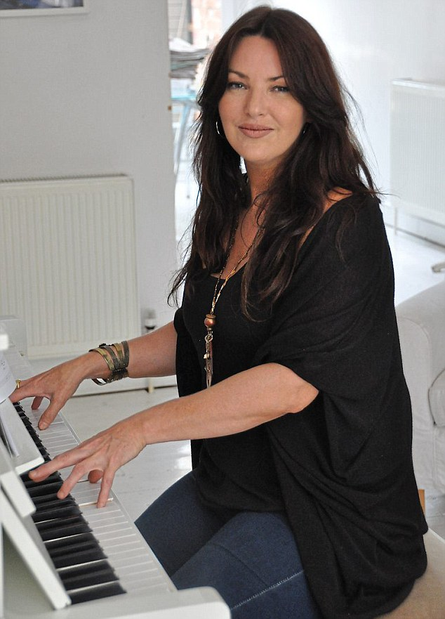 Gabriella, 33, pictured above, uses the piano at Tanith Carey's house because she wanted to prepare for an upcoming gig and didn't have the room at her flat