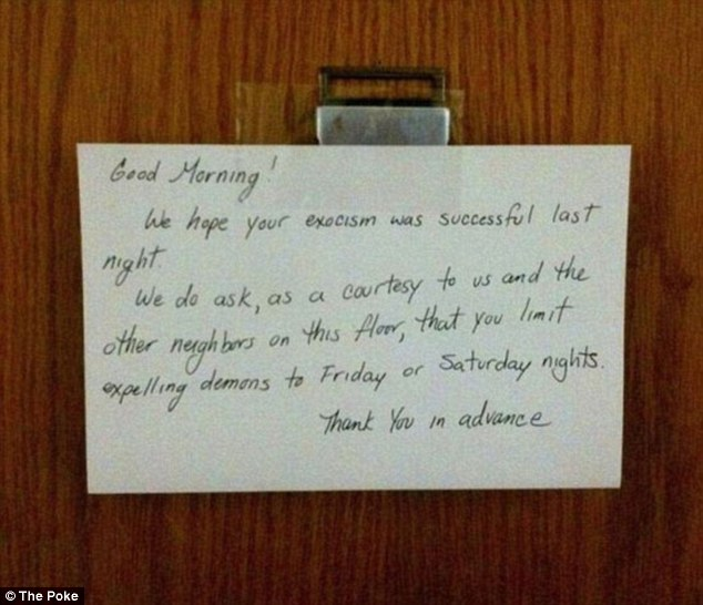 Noisy Neighbours Bad Behaviour Exposed In Hilarious Hand