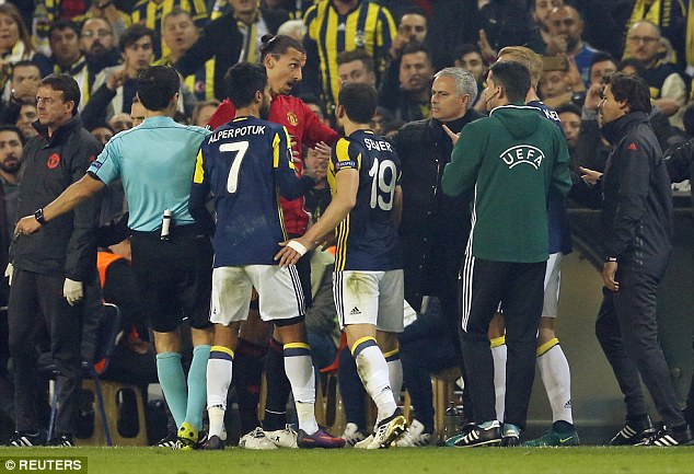 Kjaer played down the touchline exchange but went on to call Ibrahimovic 'arrogant'