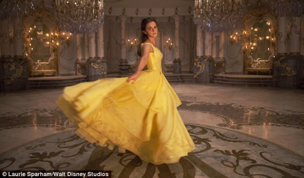 Tres Belle! Three further snaps of Emma Watson in the upcoming Beauty and The Beast remake were released by Disney on Friday