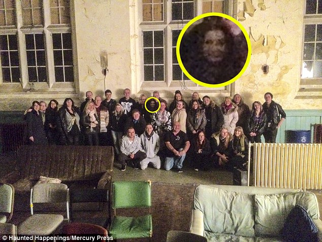 The disturbing face, which resembles the famous ghost from the 2002 horror film The Ring, seemed to appear in the middle of the mysterious picture