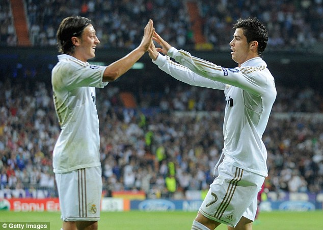 Image result for Ozil: Ronaldo is the greatest and made me a better player