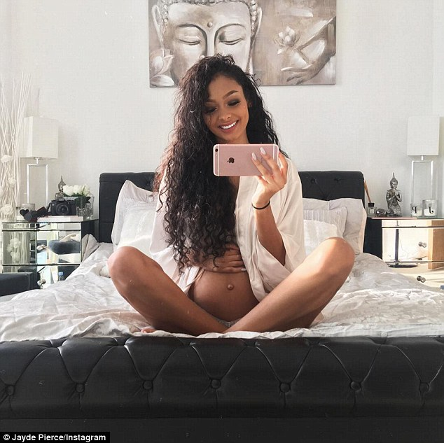 Baby on the way: Justin Bieber's former girlfriend Jayde Pierce is expecting her first child, revealing her burgeoning bump on Instagram
