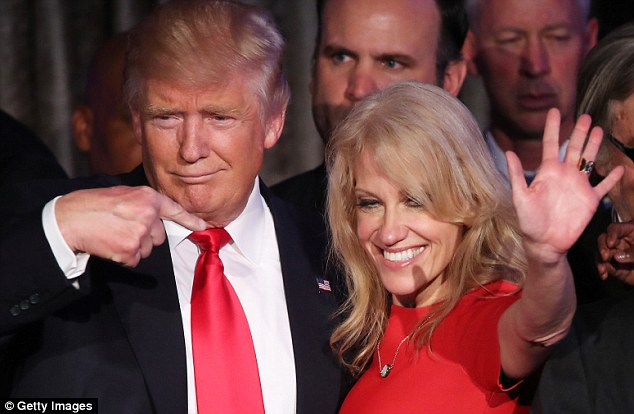 Conway shepherded Trump to victory Tuesday night as the Republican will become the 45th President o