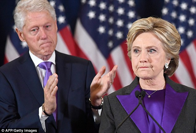 Bill Clinton was impeached in December 1998 on charges of perjury and obstruction of justice (Hillary with Bill during her speech following her defeat to Trump)