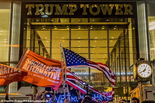 Thousands of anti-Trump protesters hit the streets in NYC chanting 'Not My President'
