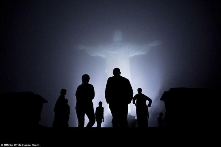 À la découverte de la statue du Christ Rédempteur à Rio de Janeiro, au Brésil, le 20 Mars 2011,