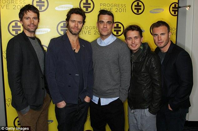 Take That: Jason Orange, Howard Donald, Robbie Williams, Mark Owen and Gary Barlow