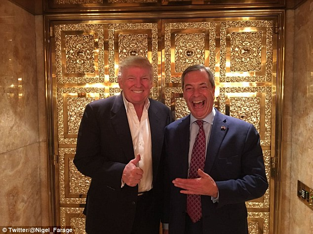 A triumphant Nigel Farage is relishing becoming the first foreign party leader to meet president-elect Donald Trump