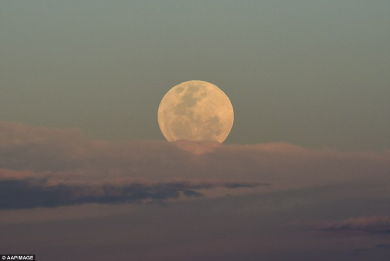 While the full moon can't turn people into werewolves, some people do accuse it of causing a bad night's sleep or creating physical and mental alterations. Image of the supermoonover Brisbane on Monday
