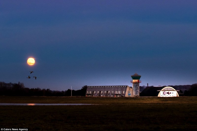 The supermoon captured yesterday at an old military airfield in Denmark.Always surrounded by an aura of mystery, the moon and its possible influence over human behaviour has been object of ancestral fascination and mythical speculation for centuries
