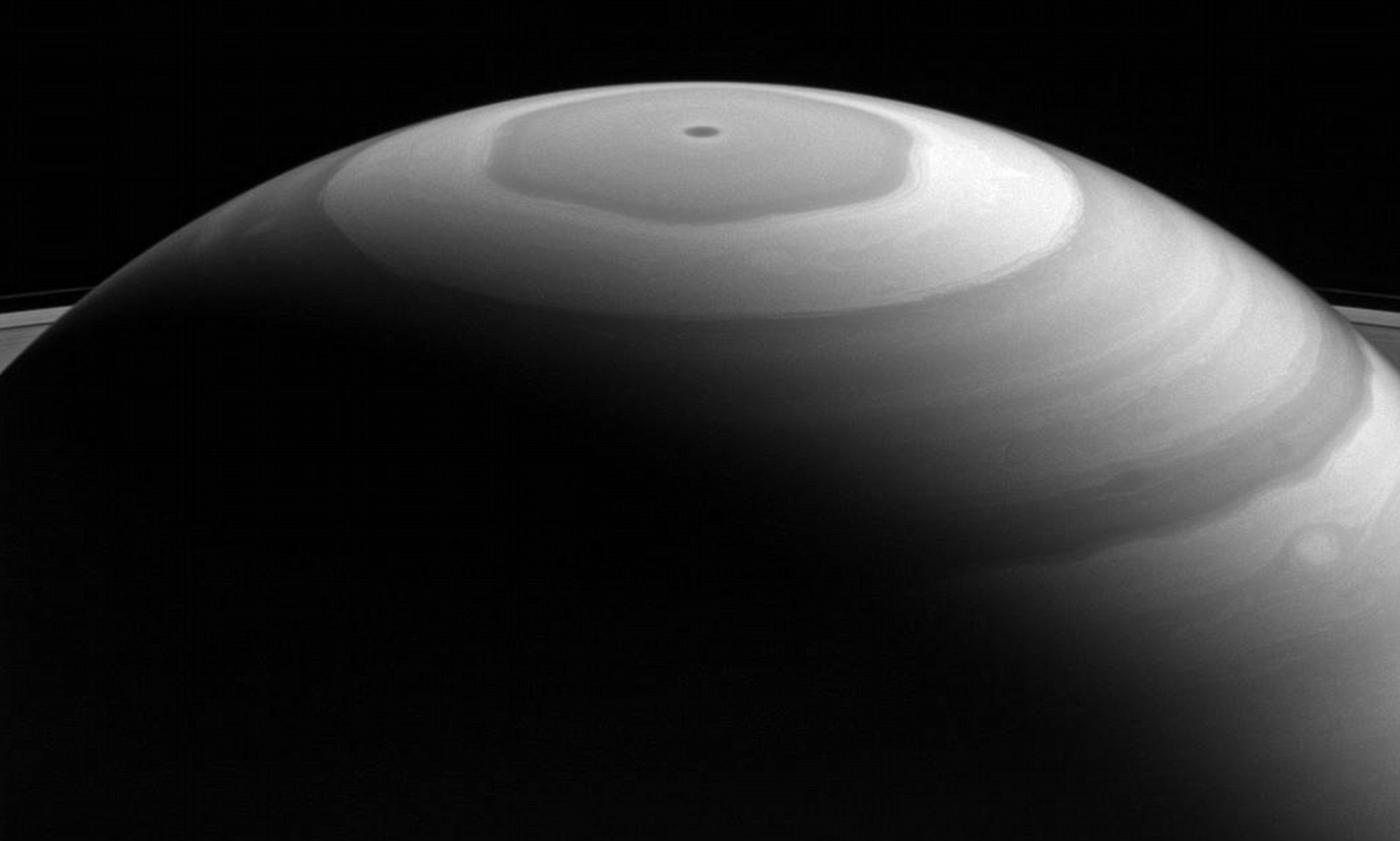 saturn s hexagonal storm