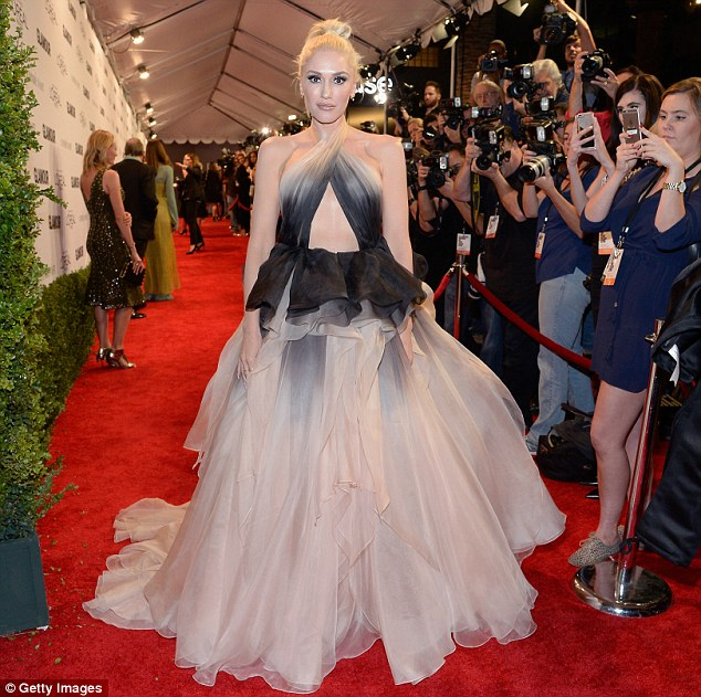 Loy key: As the Marchesa design made such an impact, the Hollaback Girl kept the rest of her look more understated