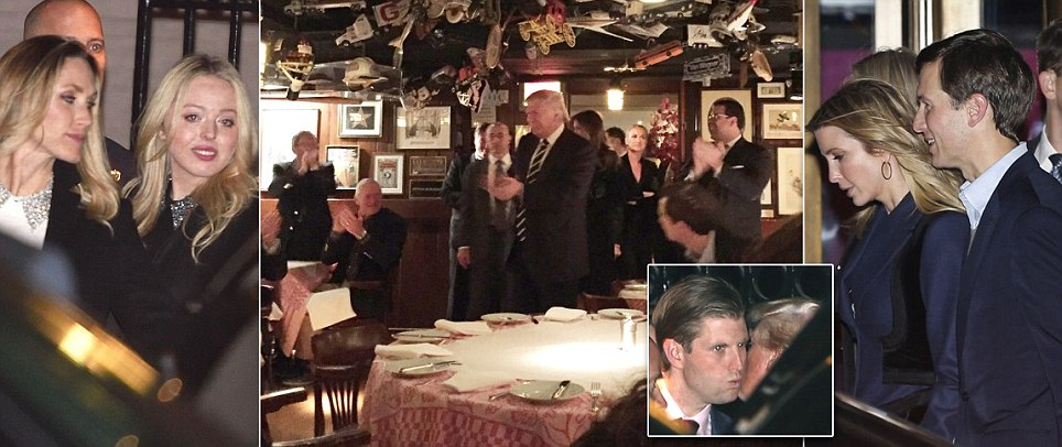 Donald Trump ditches press to eat at famous New York steak house 21 Club
