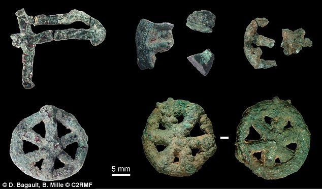The amulet is one of several lost-wax cast ornaments discovered during the excavation of the site at Mehrgarh