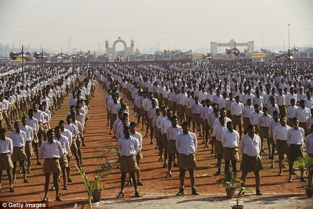 An annual rally by the Rashtriya Swayamsevak Sangh, a paramilitary volunteer nationalist organisation