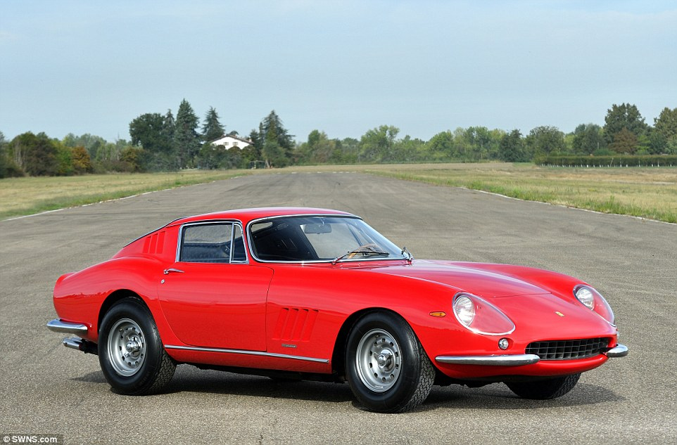 All of the lots are being sold without reserve and the most valuable cars in the collection include a red £2.4million Ferrari 275 GTB/6C (pictured)