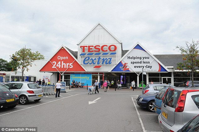 Crime scene: The incident happened in the biscuit aisle Tesco in Baguley, Manchester on September 5 this year