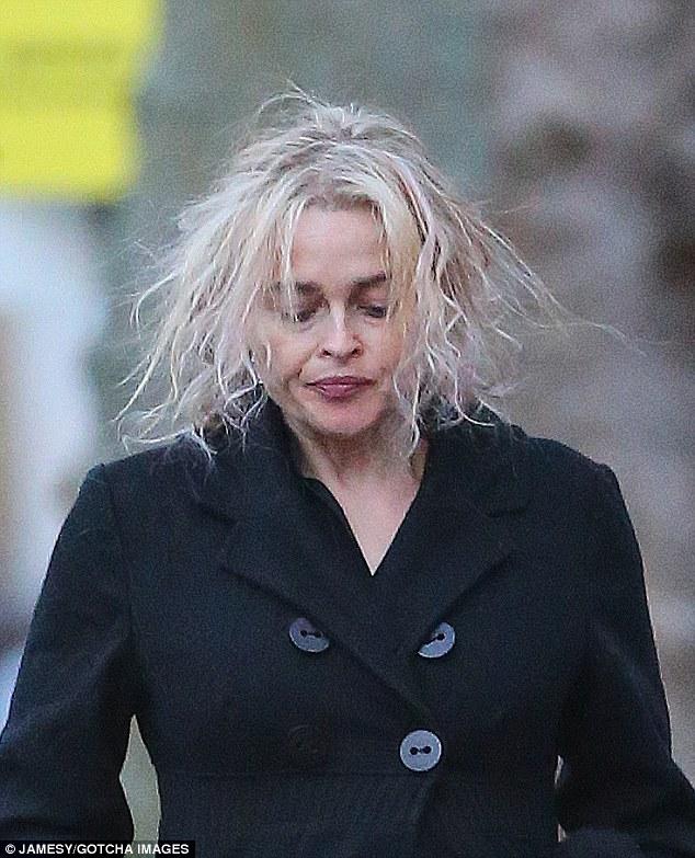 Helena Bonham Carter Flaunts New Bleached Locks In London