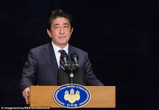 Japanese Prime Minister Shinzo Abe has branded Russia 'deplorable' for moving missiles to disputed islands in the Pacific and is now fearing nuclear attack from North Korea