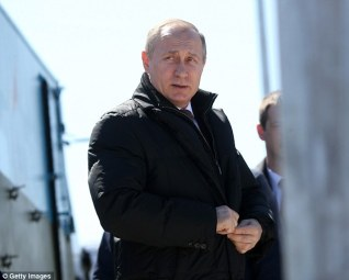 President Vladimir Putin (pictured) wants work to begin on the new 'super-heavy' rocket which will 'pave the way' for a lunar research station