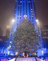 Rockefeller Christmas tree lights up and officially kicks ...