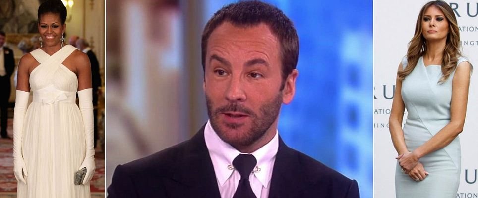 Tom Ford refused to dress Melania Trump and said his clothes are 'too expensive' for her