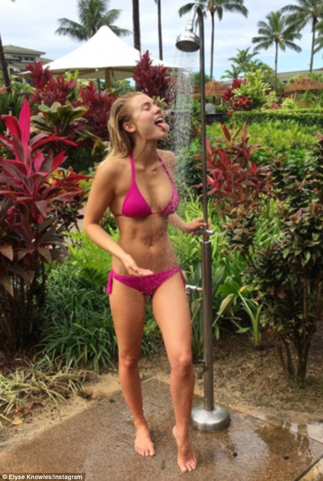 Elyse Knowles flaunts her ample assets in Hawaii on
