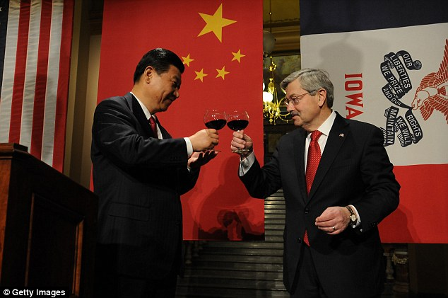 President Xi Jinping of China and Iowa Gov. Terry Branstad have known each other for more than 30-years. It's possible Branstad could be the next U.S. Ambassador to China (pic in 2012)