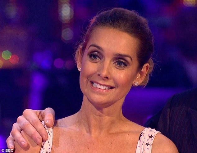Fearful: Louise Redknapp admitted she nearly quit Strictly Come Dancing on the first day after she doubted about her ability to compete against the other talented girls in the competition