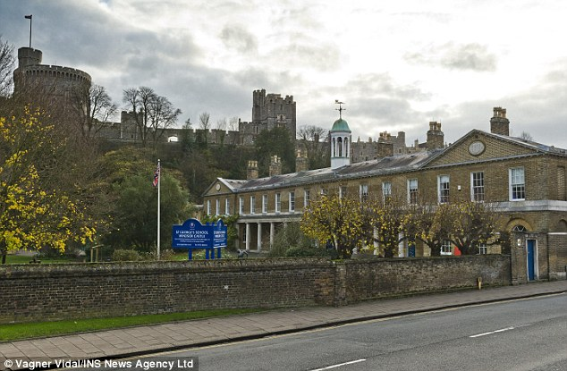 Latin teacher: Brailsford was acting headmaster of the £7,000-a-term St George's School, Windsor Castle (pictured) in Berkshire and was later a schoolmaster there
