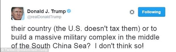 Trump angered Chinese officials by firing off these two tweets on Sunday, criticizing the government