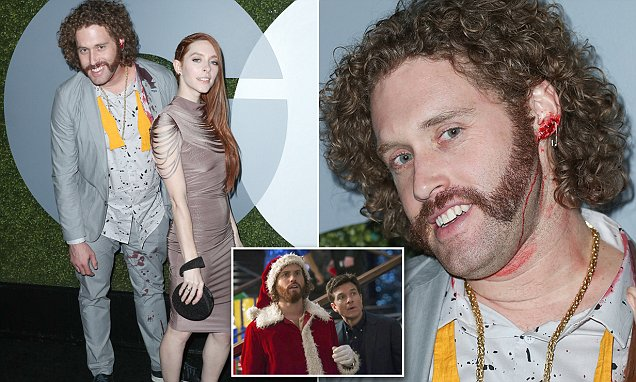 Office Christmas Party's T.J. Miller is arrested after 'slapping his Uber driver'