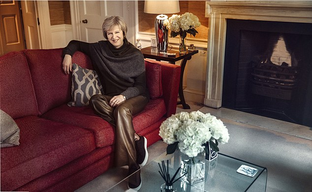 Last week she laid into the Prime Minister after Mrs May wore designer leather trousers worth £995 for a magazine photo-shoot, suggesting it would not go down well with her constituents 'in Loughborough market'