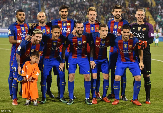 Murtaza joined a close-to-full-strength Barcelona team before their win over Al-Ahli