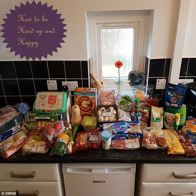 Amy's £39 weekly shop. The mother-of-three says:'We cook from fresh, no ready meals, no box meals - it's about being healthy too. We do our shopping once a week'