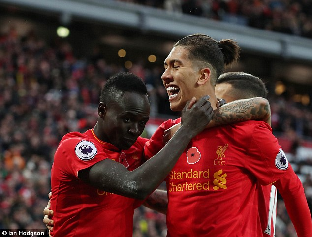 The Senegal international has built up a fine partnership with Roberto Firmino (right)