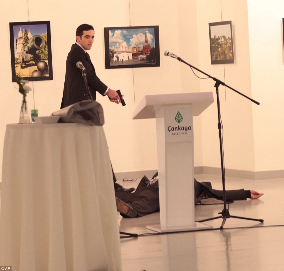 Russia has branded the assassination of Mr Karlov as a 'terror attack'